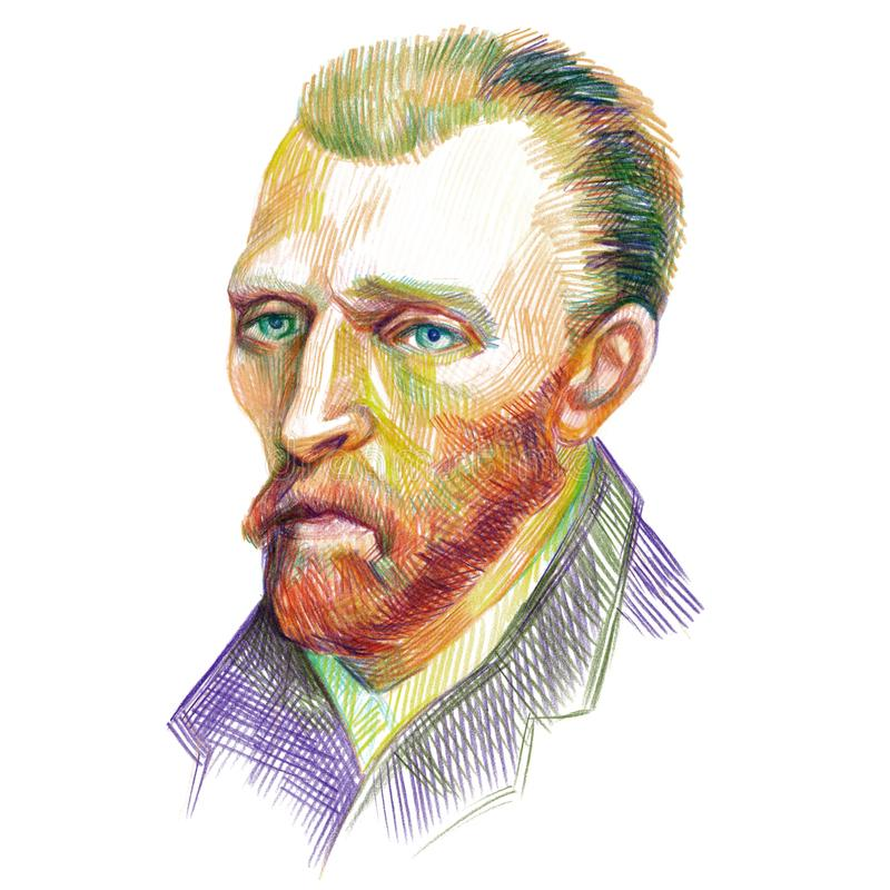 Vincent van Gogh Portrait libre illustration