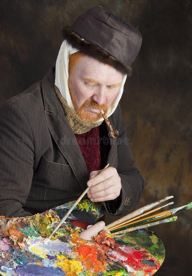 Vincent van Gogh-portret van toewijding stock foto