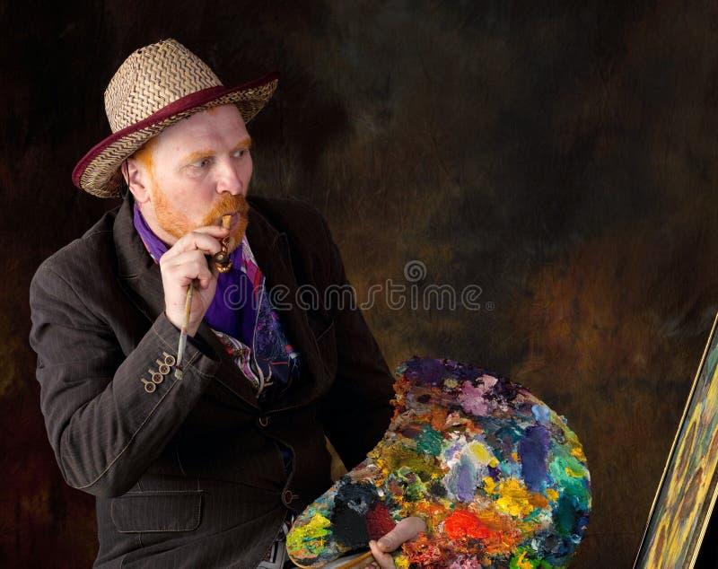 Vincent van Gogh-portret van toewijding stock afbeeldingen