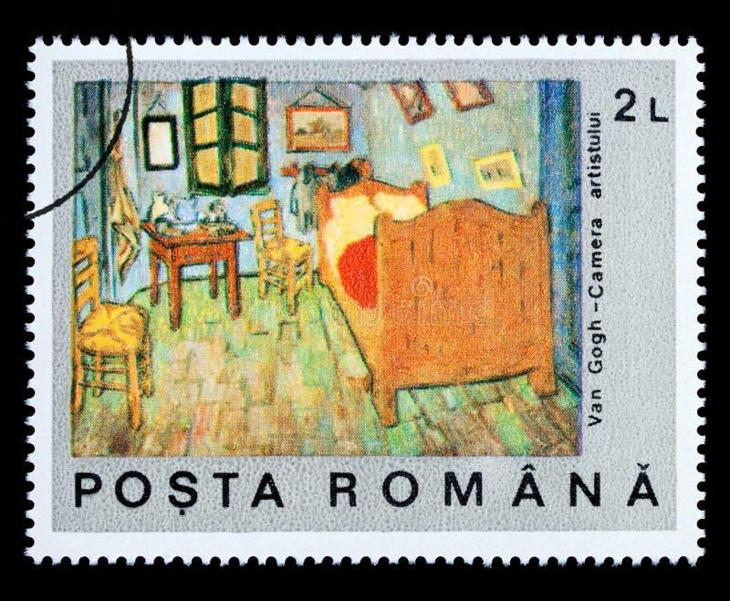 Vincent Van Gogh Postage Stamp lizenzfreie abbildung