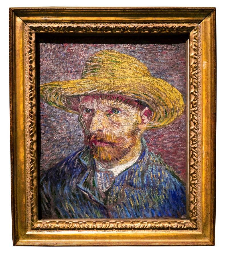 Vincent Van Gogh, självporträtt, New York stock illustrationer