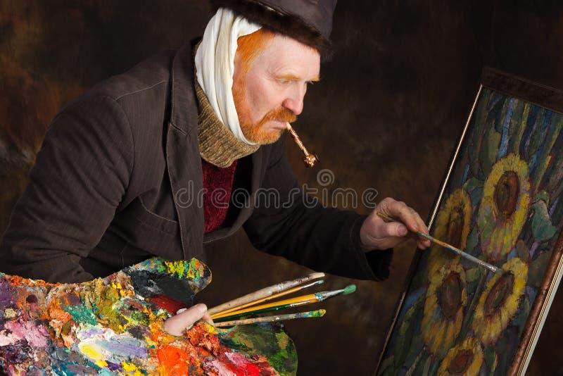 Vincent van Gogh stående av dedikation royaltyfri bild
