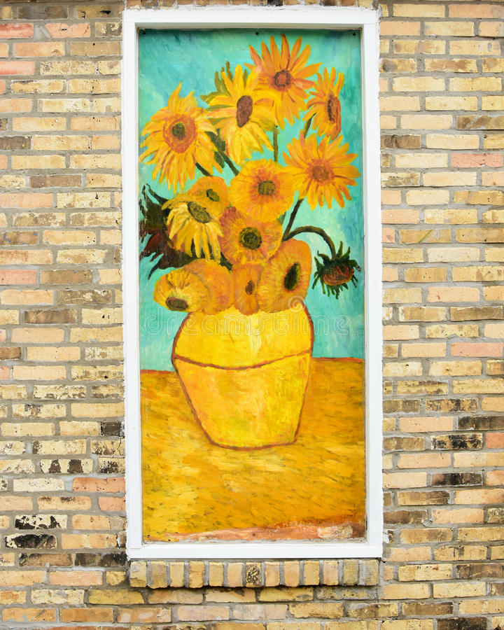 Vincent Van Gogh Sunflowers immagini stock