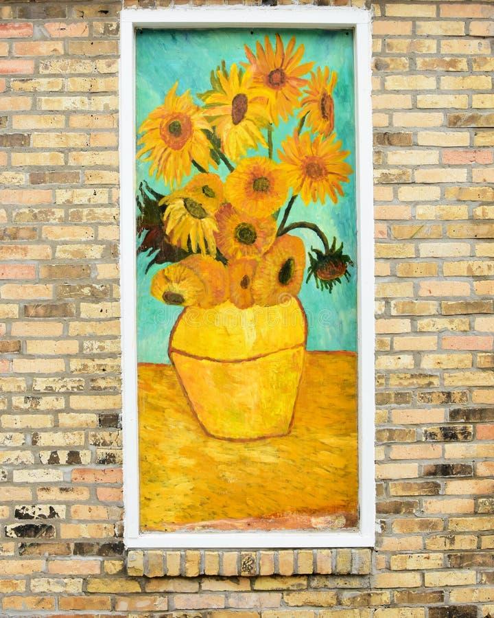Vincent Van Gogh Sunflowers stock images