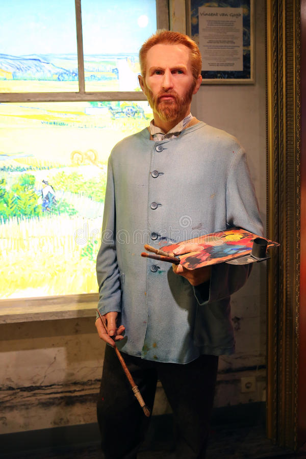 Vincent van Gogh-wasstandbeeld stock afbeelding