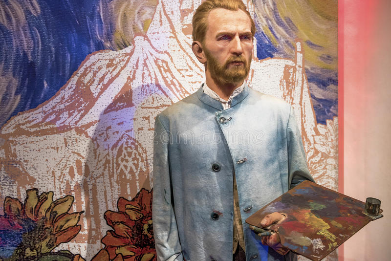 Vincent Van Gogh. Wax figure in Madame Tussauds museum royalty free stock photography