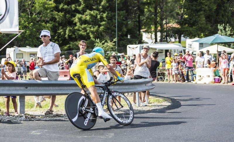 Vincenzo Nibali - le gagnant du Tour de France 2014 photo stock