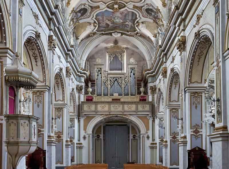Ispica Sicily Italy. Vincenzo Sinatra`s Basilica Santa Maria Maggiore. Ispica Sicily Italy royalty free stock images