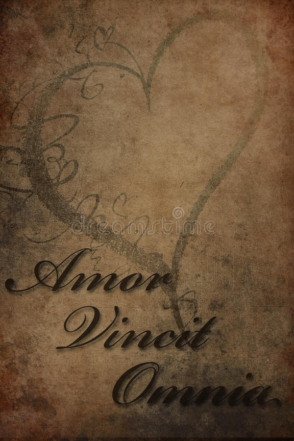 vincit amor omnia zdjęcie royalty free