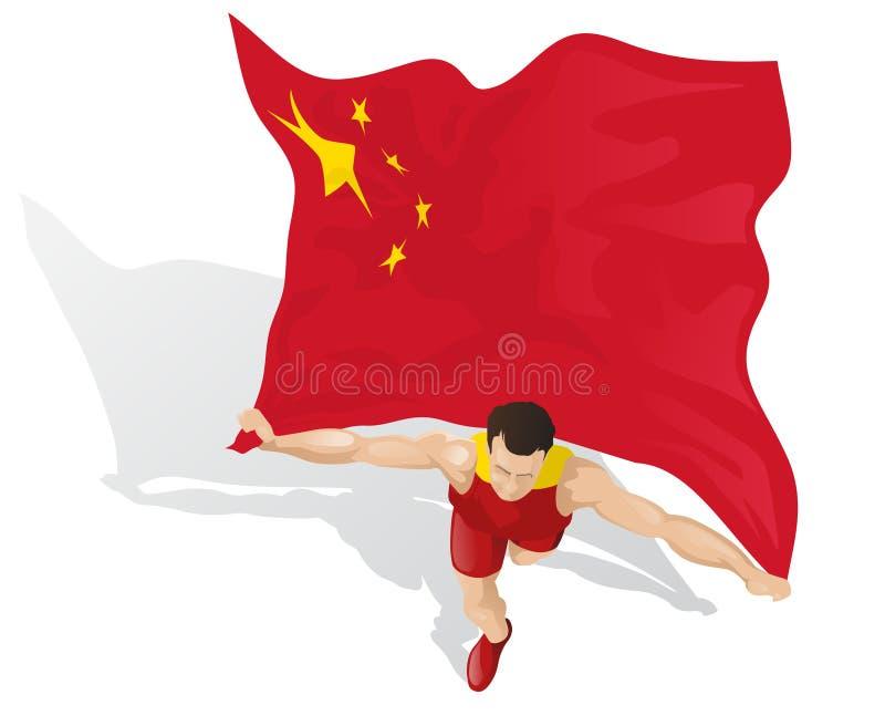 Vincitore cinese della corsa royalty illustrazione gratis