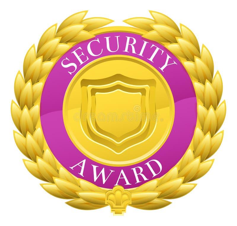 Vincitore Laurel Wreath Medal di sicurezza dell'oro illustrazione di stock