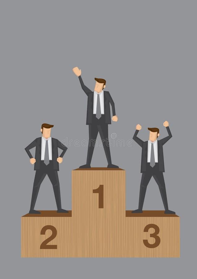 Vincitori dell'illustrazione concettuale di vettore della concorrenza di affari illustrazione vettoriale