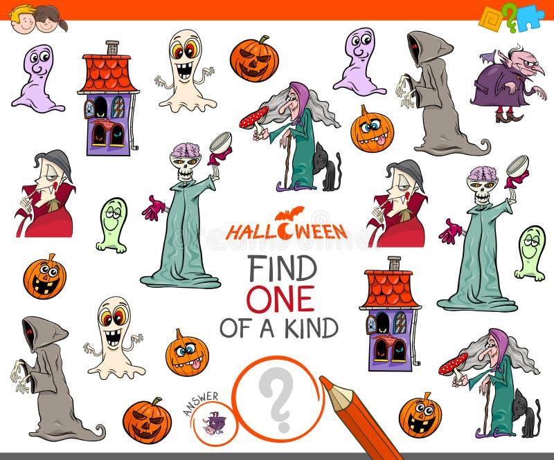Vind één van een vriendelijk spel met Halloween-karakters vector illustratie