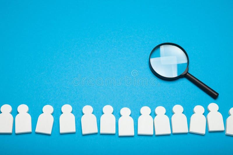 Vind baantalent, rekruutbeoordeling Controle, kandidaatgesprek royalty-vrije stock afbeeldingen