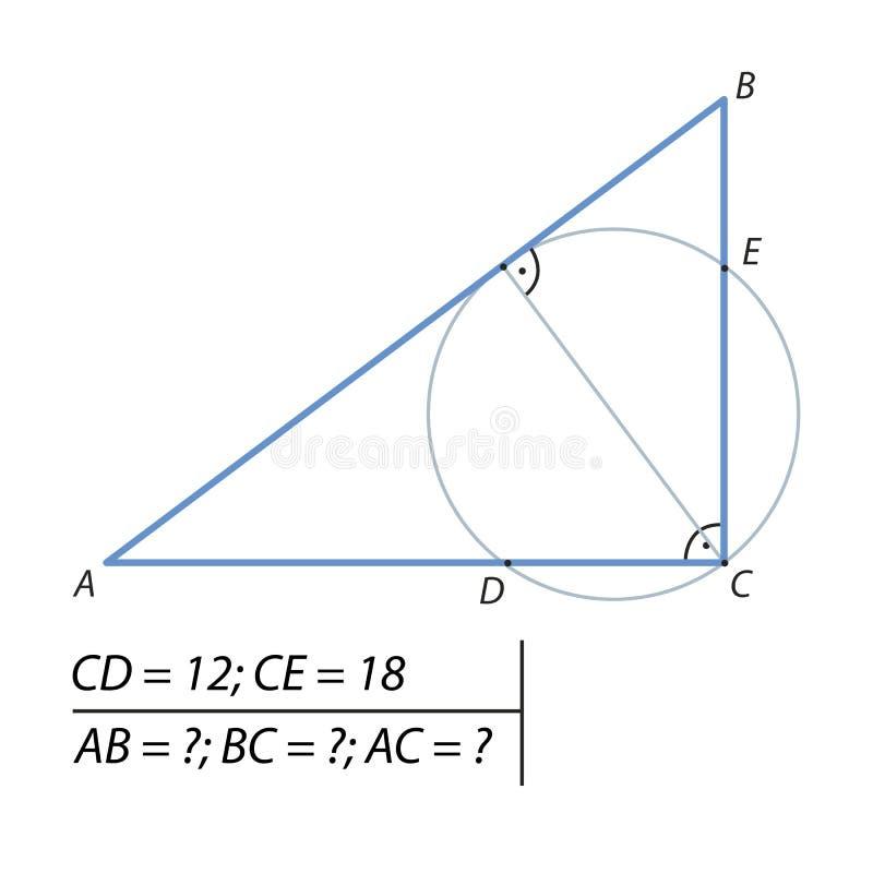 Vind de benen van een juiste driehoek vector illustratie