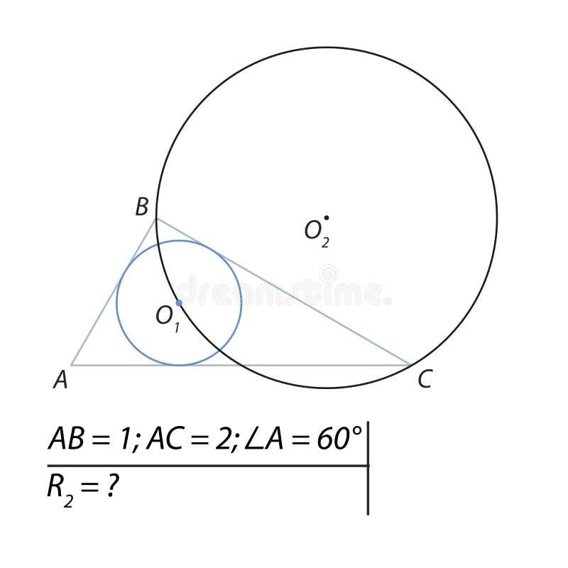 Vind de straal van de ingeschreven cirkel royalty-vrije illustratie