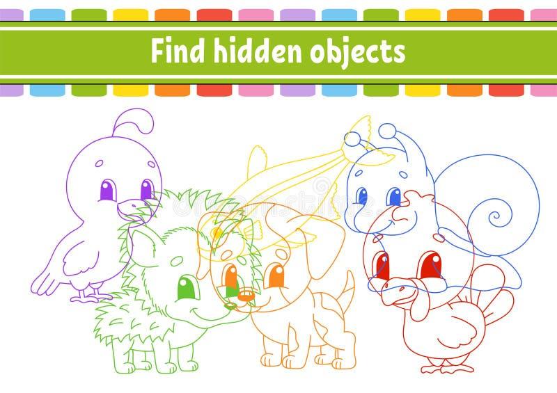 Vind en tel Onderwijs die aantekenvel ontwikkelen Activiteitenpagina met beelden Raadselspel voor kinderen Logische het denken op vector illustratie