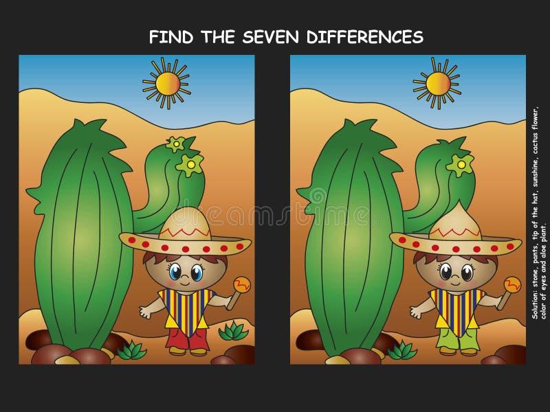 Vind het verschil vector illustratie