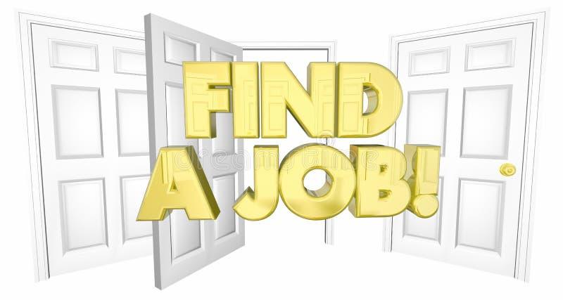 Vind Job Look voor Woorden van het Werk de Open Deuren stock illustratie