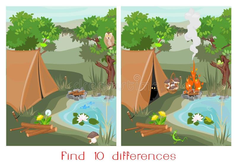 Vind tien verschillen royalty-vrije illustratie