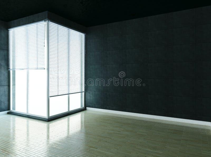 Vind tomt rum, loft, 3d vektor illustrationer
