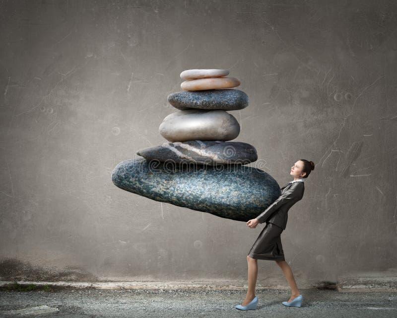 Vind uw binnenevenwicht stock afbeelding