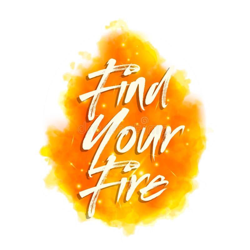 Vind uw brand Het motieven zeggen voor affiches vector illustratie