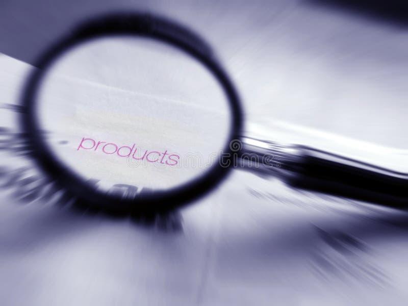 Vind uw producten stock foto