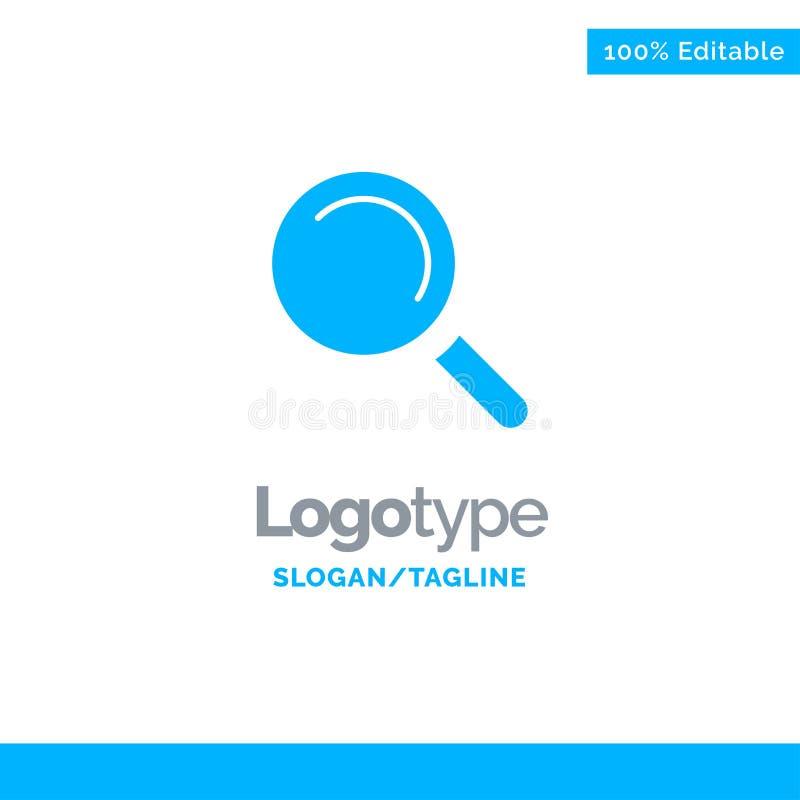 Vind, zoek, bekijk Blauw Stevig Logo Template Plaats voor Tagline stock illustratie