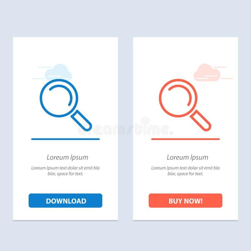 Vind, zoek, bekijk Blauwe en Rode Download en koop nu de Kaartmalplaatje van Webwidget royalty-vrije illustratie