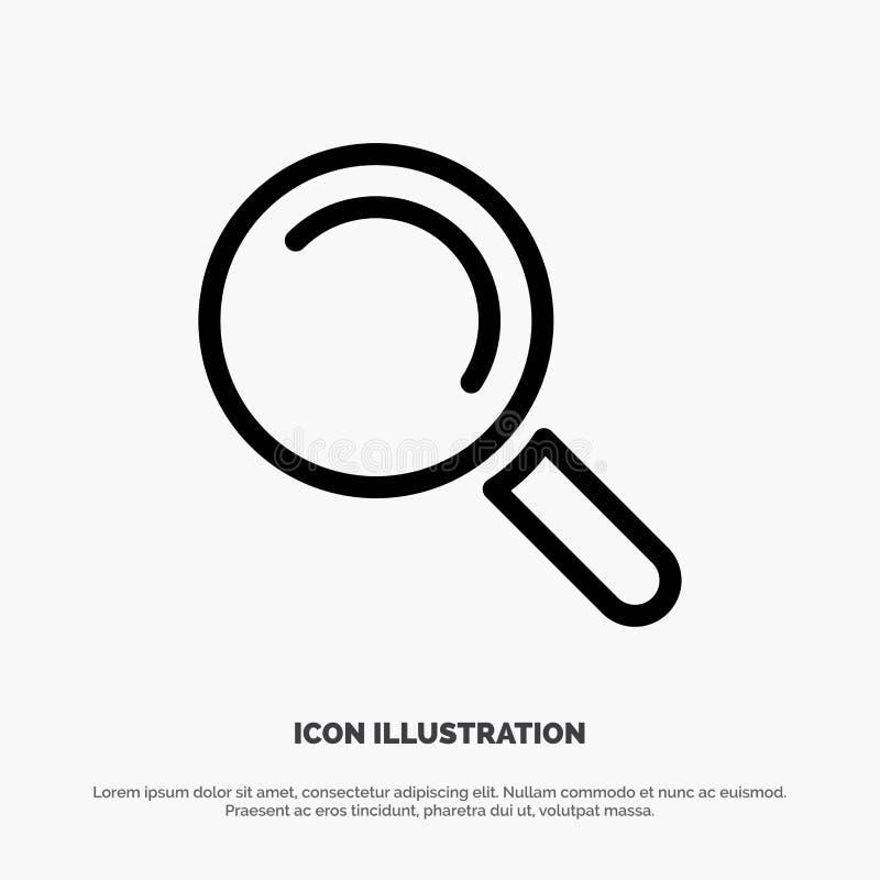 Vind, zoek, bekijk de Vector van het Lijnpictogram royalty-vrije illustratie