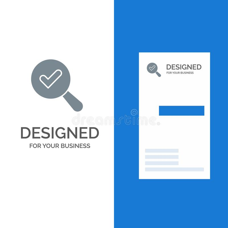 Vind, zoek, bekijk het Malplaatje van Grey Logo Design en van het Visitekaartje vector illustratie