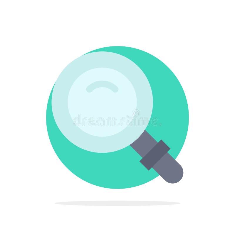 Vind, zoek, bekijk, van de Achtergrond glas Abstract Cirkel Vlak kleurenpictogram stock illustratie
