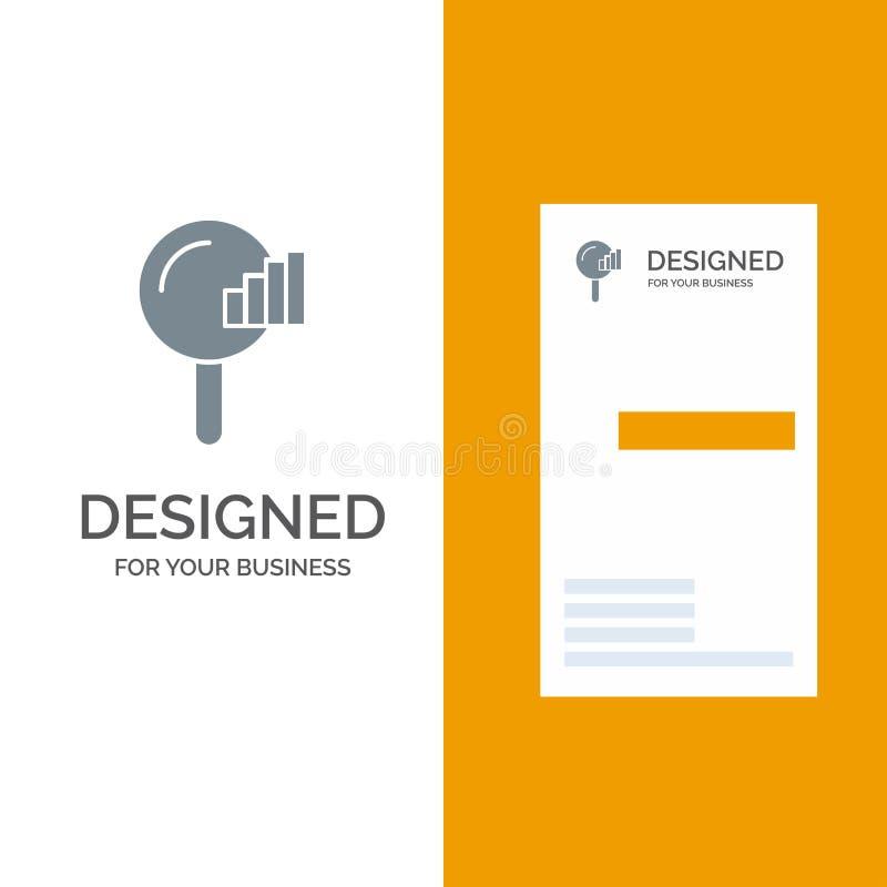 Vind, zoek, de Dienst, Signaal Grey Logo Design en Visitekaartjemalplaatje royalty-vrije illustratie