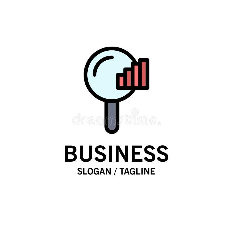 Vind, zoek, de Dienst, Signaalzaken Logo Template vlakke kleur royalty-vrije illustratie