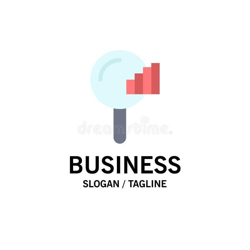 Vind, zoek, de Dienst, Signaalzaken Logo Template vlakke kleur stock illustratie