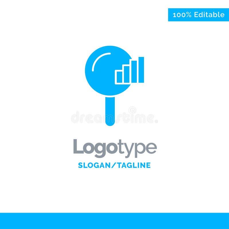 Vind, zoek, de Dienst, signaleer Blauw Stevig Logo Template Plaats voor Tagline stock illustratie