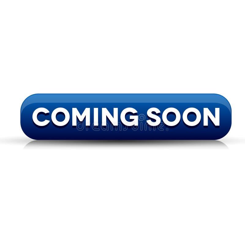 Vinda logo azul do botão ilustração royalty free