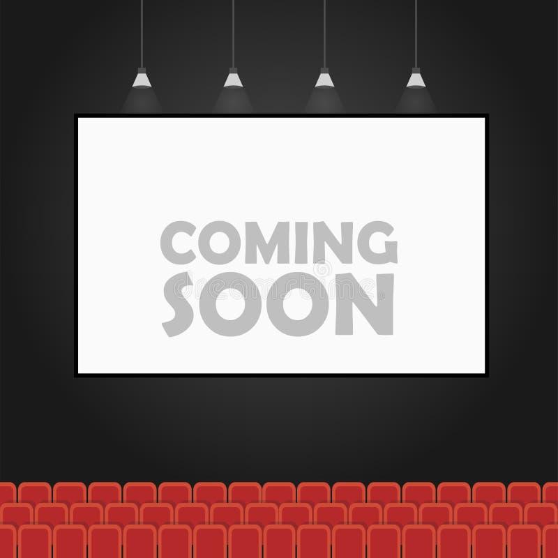 Vinda logo bandeira do teatro ilustração stock