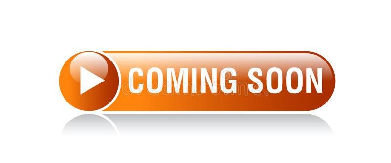 Vinda logo botão ilustração royalty free