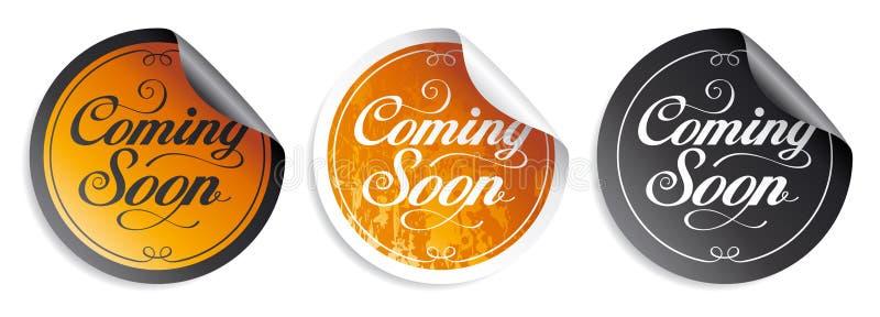 Vinda logo etiquetas. ilustração stock