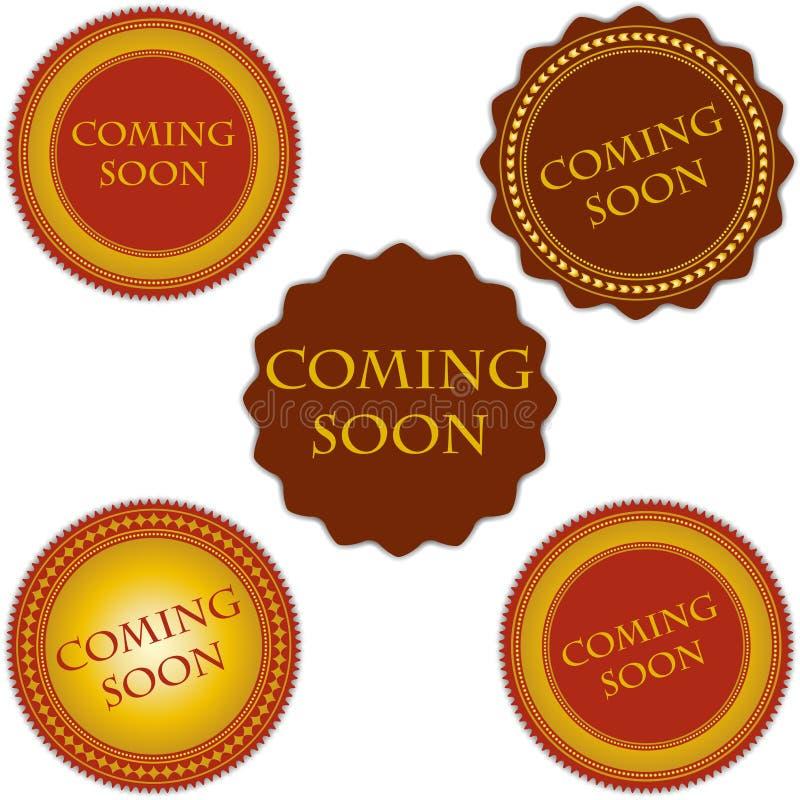 Vinda logo grupo de etiquetas ilustração royalty free