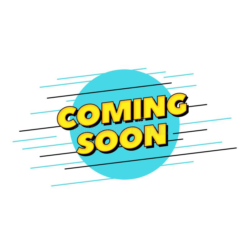 Vinda logo texto do vetor Projeto da tipografia do estilo do PNF para o título do cartaz ou a bandeira impressa do Web site ilustração royalty free