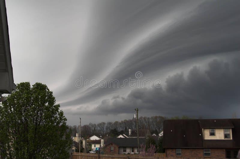 Vinda perigosa da tempestade imagem de stock