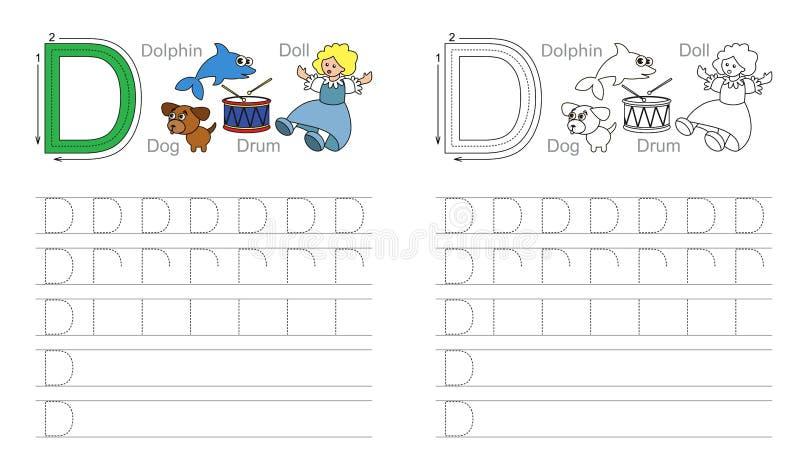 Vindend aantekenvel voor brief D stock foto's