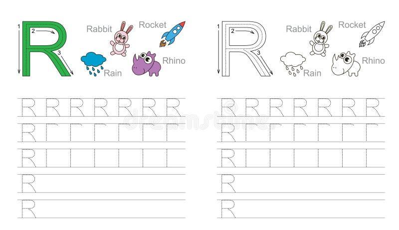 Vindend aantekenvel voor brief R royalty-vrije stock afbeeldingen