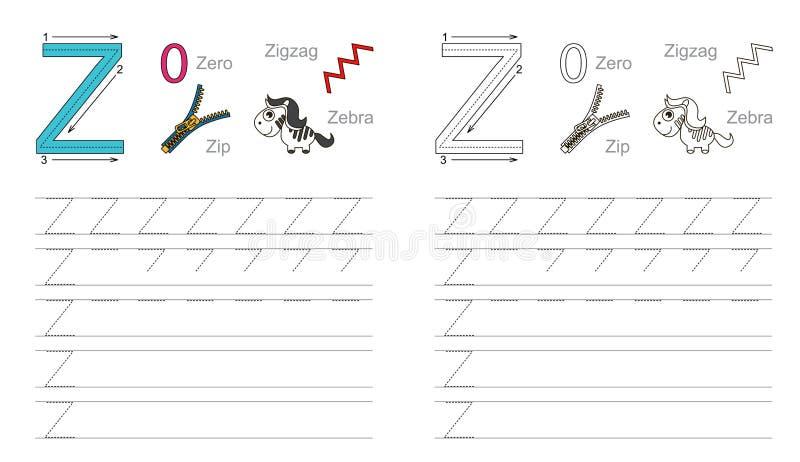 Vindend aantekenvel voor brief Z royalty-vrije stock foto