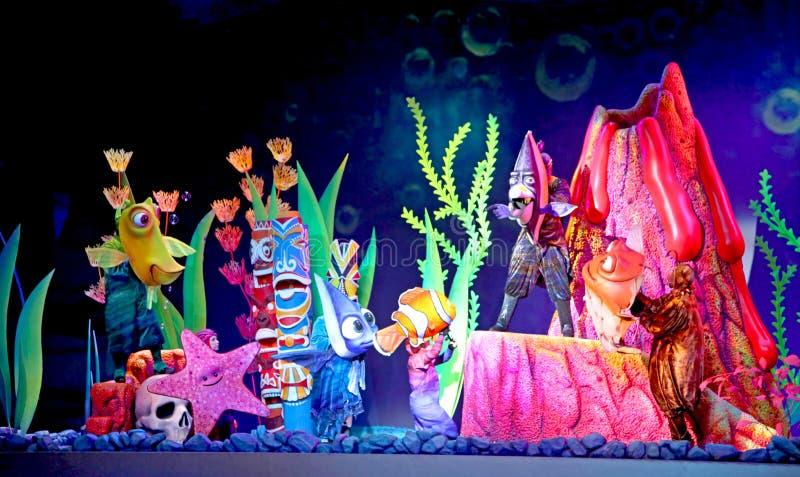 Vindend Nemo - de Musical stock foto