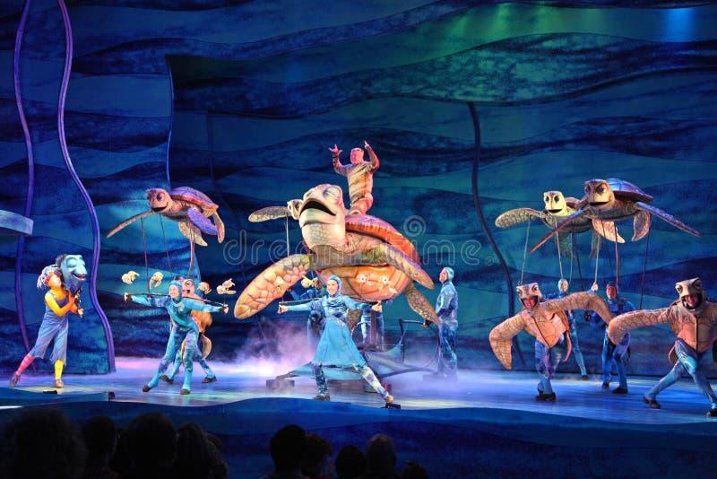 Vindend Nemo - de Musical stock foto's