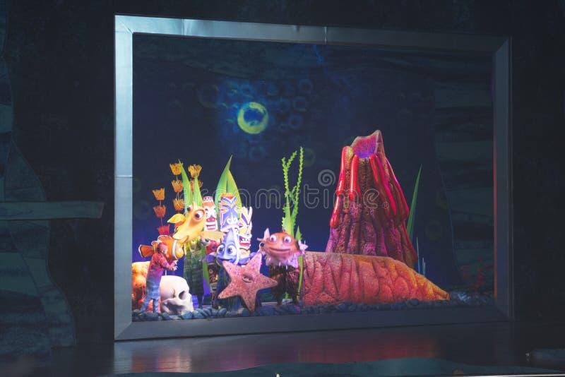 Vindend Nemo - de Musical stock afbeelding